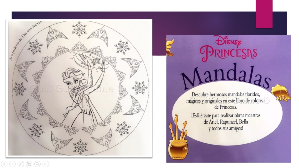 Mandalas Para Colorear De Disney: Libro Mandalas Para Colorear Princesas Disney Relajante