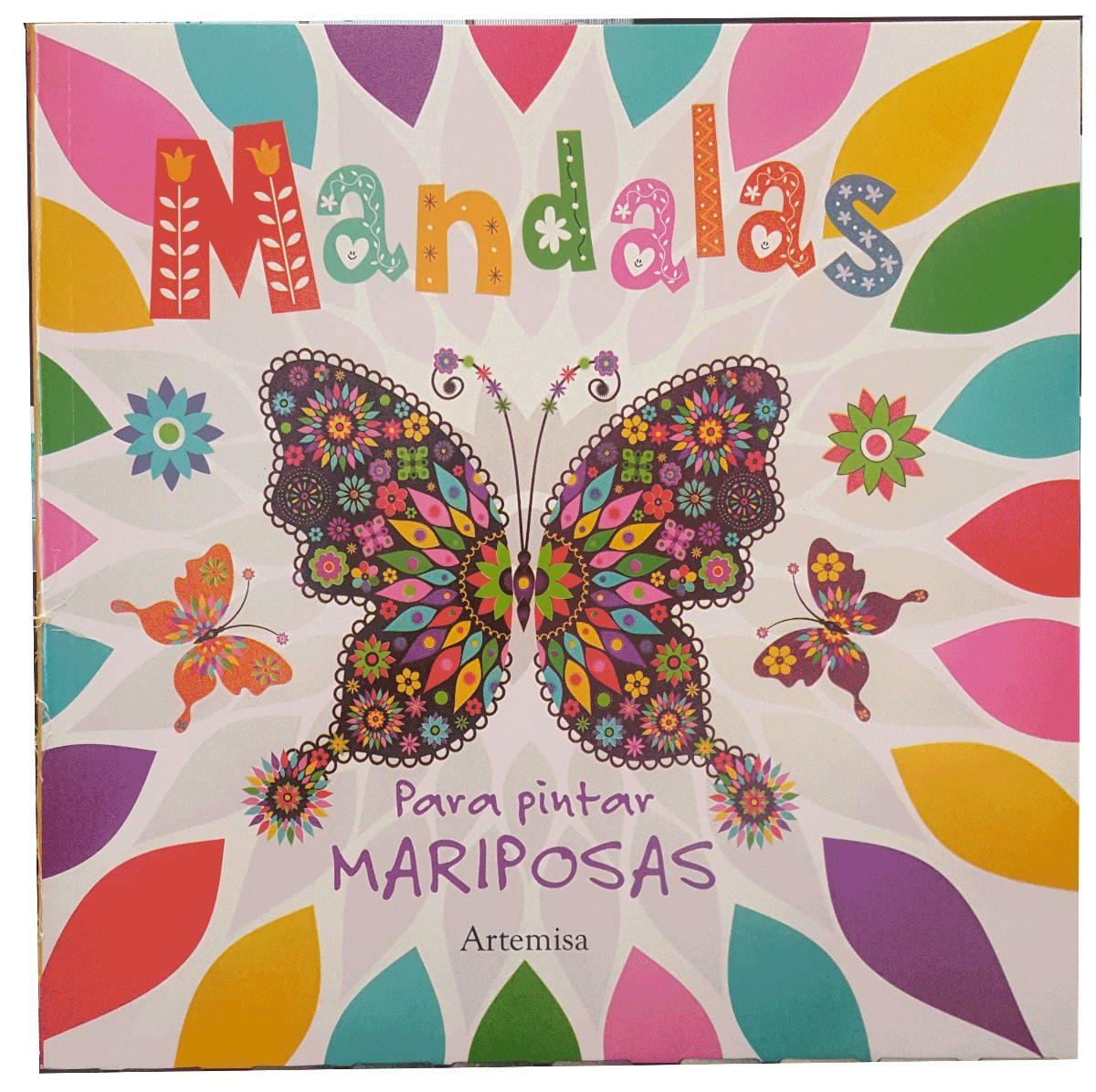 Libro Mandalas Para Pintar Mariposas - $ 89,00 en Mercado Libre