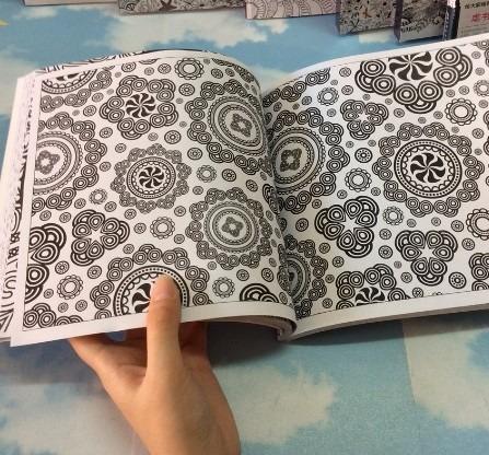 libro mandalas zen, 128 páginas para colorear aliviar estrés