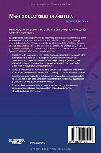 libro manejo de las crisis en anestesia - nuevo