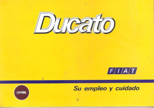 libro- manual de fiat ducato 1992/94  -100%original