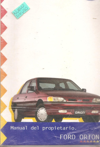 libro  manual de ford orion 95/96 -original