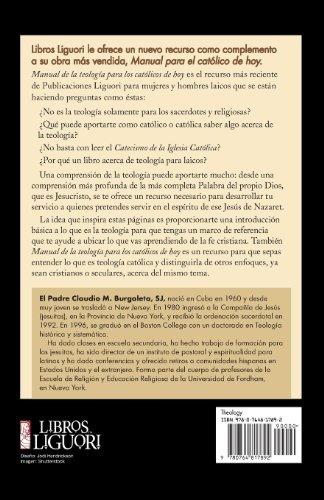 libro manual de la teologia para los catolicos de hoy