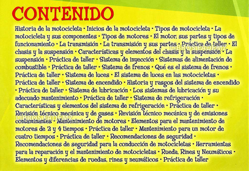 libro manual de mecánica para motos + dvd