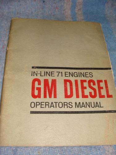 libro manual de operación de gm diesel in line 71 engines