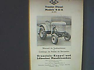 libro-manual de uso/despiece: tractor orenstein-koppel -´50s