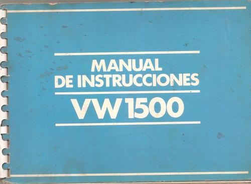 libro  manual de volkswagen 1500 `1983/86-original
