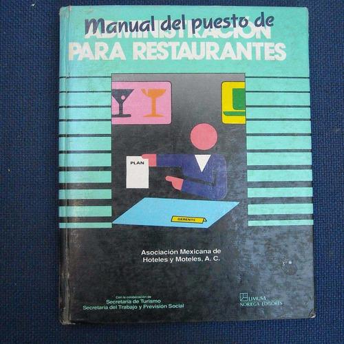 libro manual del puesto de administracion para restaurantes,