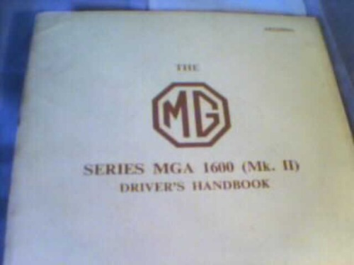libro-manual del usuario: mg a 1600 (mk ii) - año 1961-2
