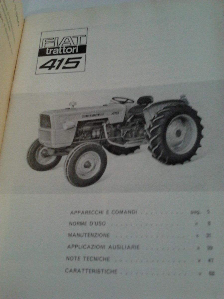 libro manual original de usuario tractor fiat 415 a o 1965 rh articulo mercadolibre com ar New Holland Tractors Fiat Tractors USA