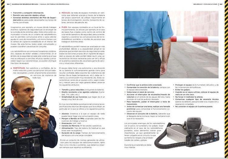 Manual de capacitación del sistema de seguridad privada.