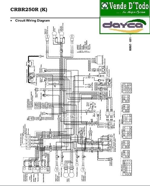 libro manual servicio reparacion moto honda cbr 250 cbr250 bs rh articulo mercadolibre com ve cbr 250 wiring diagram 2012 cbr 250 wiring diagram