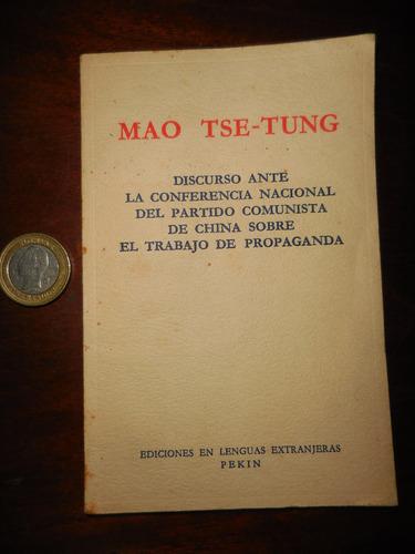libro mao tse - tung discurso sobre el trabajo de propaganda