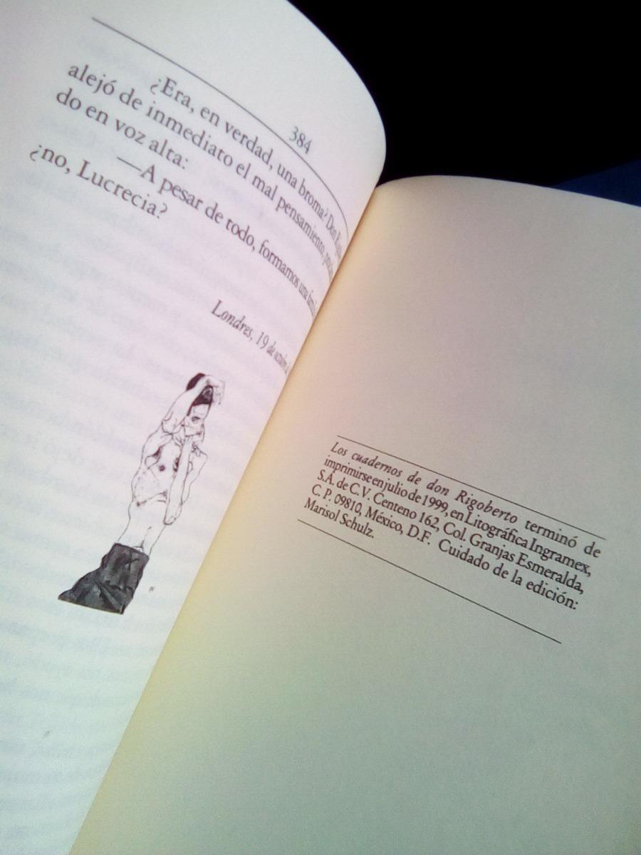 Libro Mario Vargas Llosa Los Cuadernos De Don Rigoberto