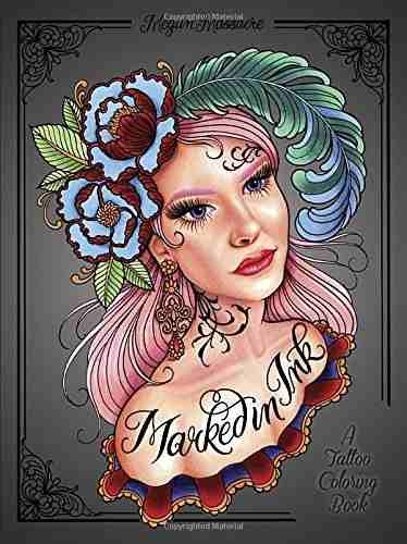 Libro Marked In Ink Adult Coloring Book: A Tattoo Coloring B ...
