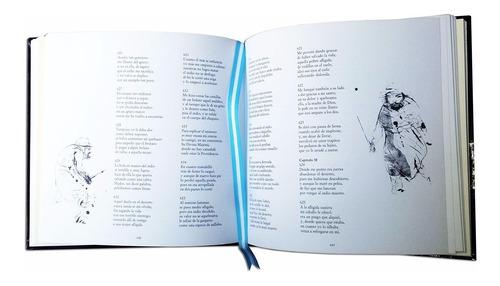 libro martin fierro edicion lujo tapa ecocuero ilustraciones