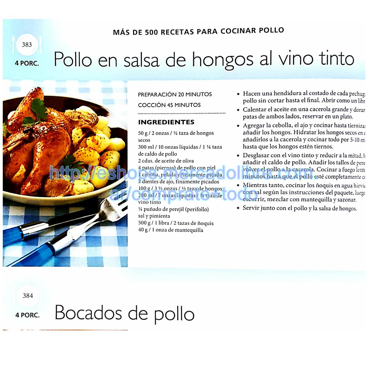 Libro Más De 500 Recetas Creativas Para Cocinar Pollo