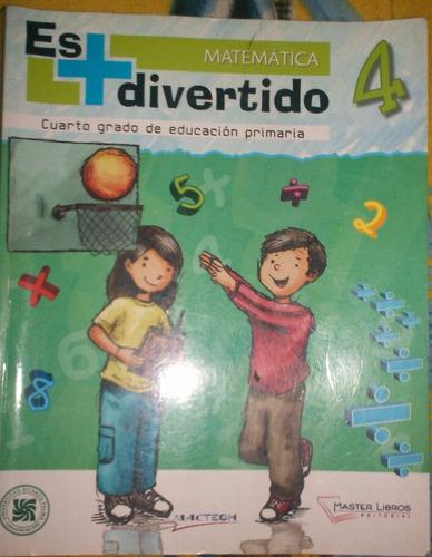 libro matemática es mas divertido 4  editorial master libros