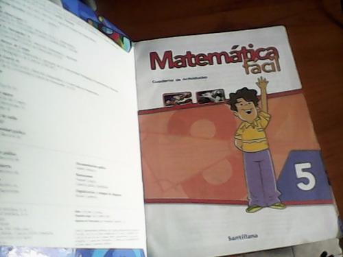 libro matematica facil 5 santillana