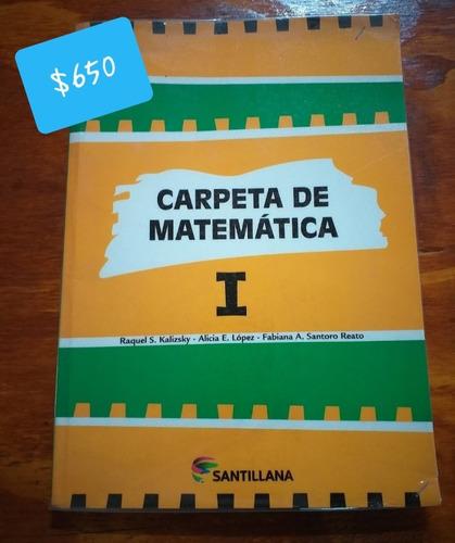 libro matemáticas 1, editorial santillana