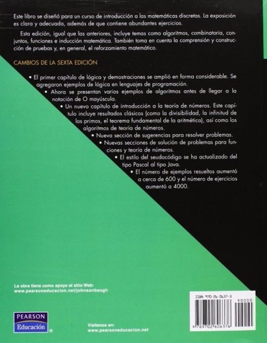 libro, matemáticas discretas de richard johnsonbaugh.