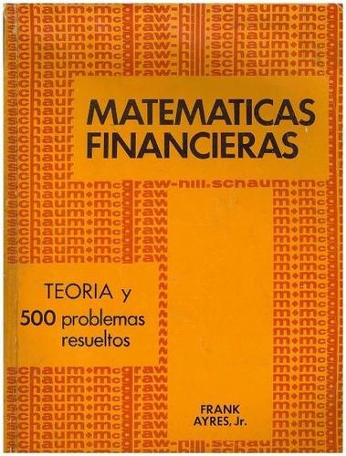 libro, matematicas financieras frank ayres jr serie schaum.