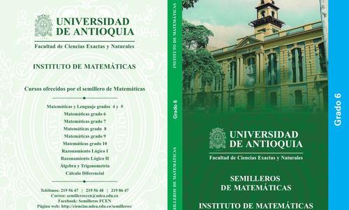 libro matemáticas grado 6   -- blanco y negro