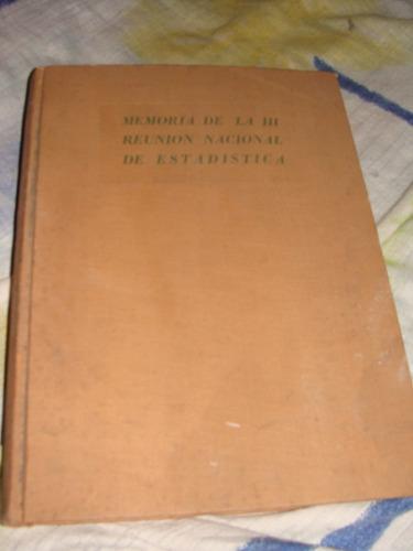 libro memoria de la reunion nacional de estadistica