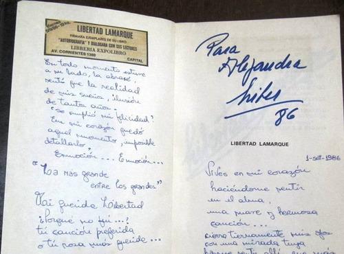 libro memorias de libertad lamarque autografíado