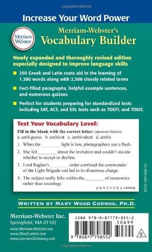 Merriam-websters Vocabulary Builder Ebook