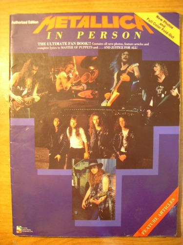 libro metallica  in person (unauthorized edition)) 1990