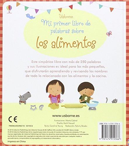 libro mi primer libro de palabras sobre los alimentos