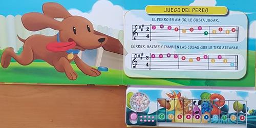 libro mi primer teclado animales con instrumento musical