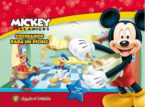 libro mickey cocinando para un picnic - con pop up guadal
