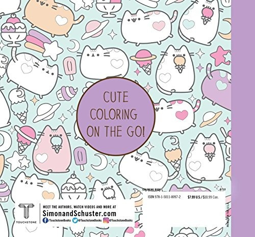libro mini pusheen coloring book - nuevo
