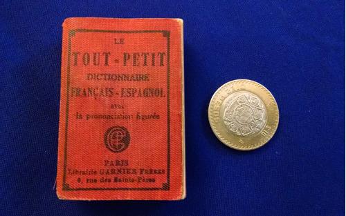 libro miniatura antiguo diccionario francés español