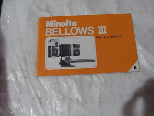 libro minolta bellows iii  ,  25 paginas