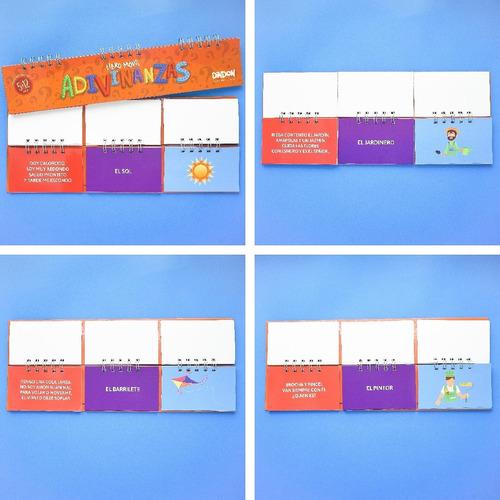 libro movil de adivinanzas montessori - material didáctico