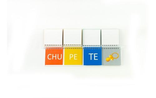libro móvil de sílabas de 3 - tapa blanda