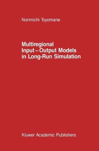 libro multiregional input-output models in long-run simula
