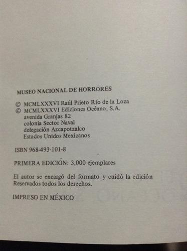 libro museo nacional de horrores