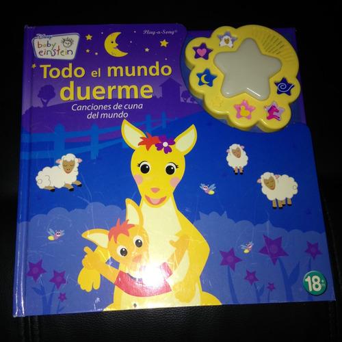 libro musical todo el mundo duerme baby einstein original