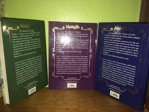 libro, narnia 1, 4, 5 de c.s lewis, tapa dura. precio c/u.