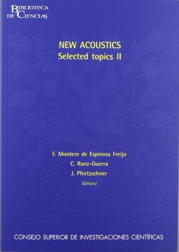 libro new acoustics, selected topics ii - nuevo