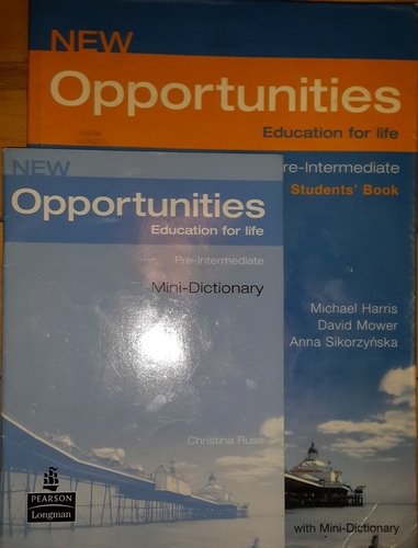 libro new oportunities: pre intermidate (con diccionario)
