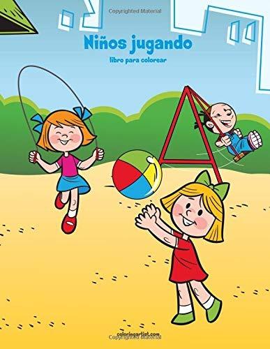 Libro Niños Jugando Libro Para Colorear 1 Volume 1