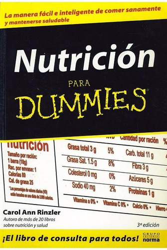 libro, nutrición para dummies de carol ann rinzler.
