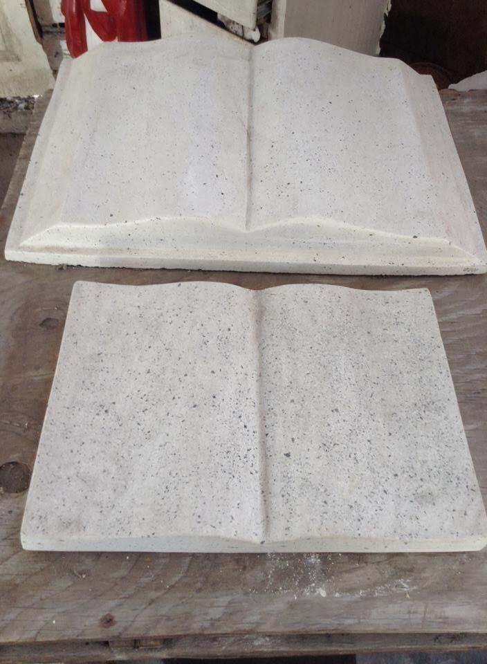 Libro o biblia m rmol 35x35cm texto grabado env o incluido for Cuanto cuesta el marmol
