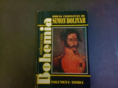 libro obras completas de simon bolivar colección bohemia