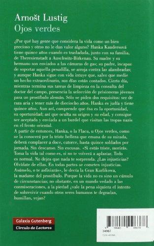 libro ojos verdes - nuevo